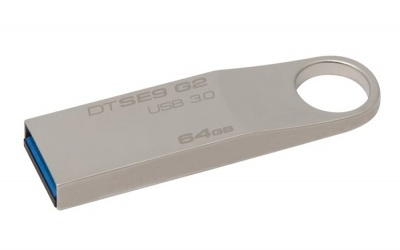 "Pendrive, 64GB, USB 3.0, 100/15 MB/sec, fém ház, KINGSTON ""DataTraveler SE9 G2"""